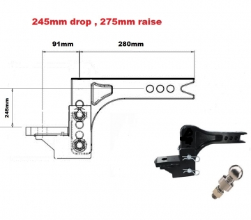3504KG Adjustable towbar Ball Mount  ** FREE DELIVERY **