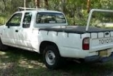 HILUX 2WD STYLESIDE UTE (vehicle with rear bumper step fitted)