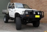 HILUX 2wd and 4wd TRAYBACK (vehicle with rear bumper step fitted)