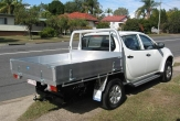TRITON 4WD DUAL and CLUB CAB Trayback (vehicle without rear bumper step fitted)